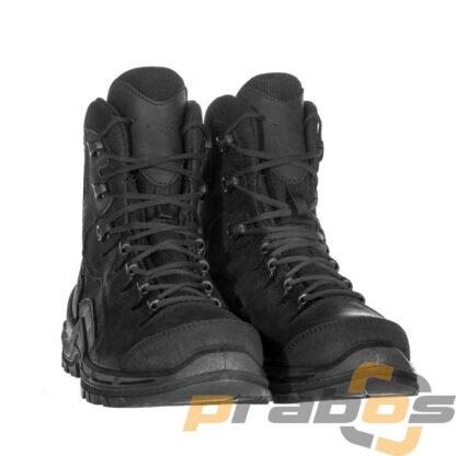 Wysokie czarne buty policyjne i outdoorowe w góry