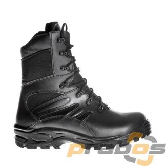 Czarne wysokie obuwie taktyczne z zamkiem z boku dla Policji z membraną Gore-Tex