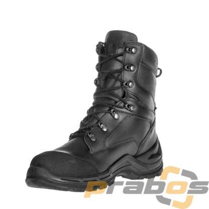 Czarne buty taktyczne dla jednostek specjalnych i policji z metalowym noskiem