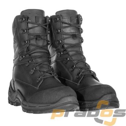 Czarne wysokie buty taktyczne dla policji z podnoskiem stalowym