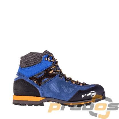 Niebieskie lekkie buty trekkingowe z podeszwą przystosowaną do długiego trekkingu