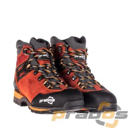 Oddychające buty trekkingowe damskie Acotango w kolorze czerwonym.