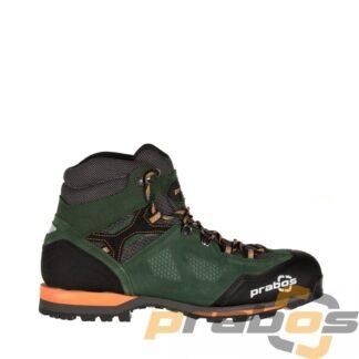 Buty trekkingowe za kostkę w kolorze zielonym