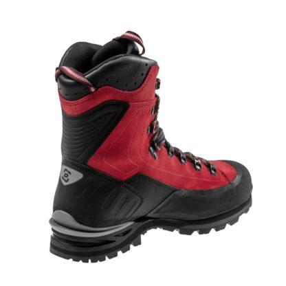 Wysokie damskie buty trekkingowe czerwone