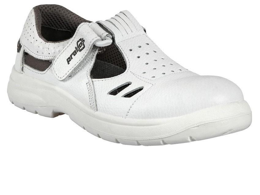 Richard białe buty robocze z lekką i antypoślizgowa podeszwą SRC