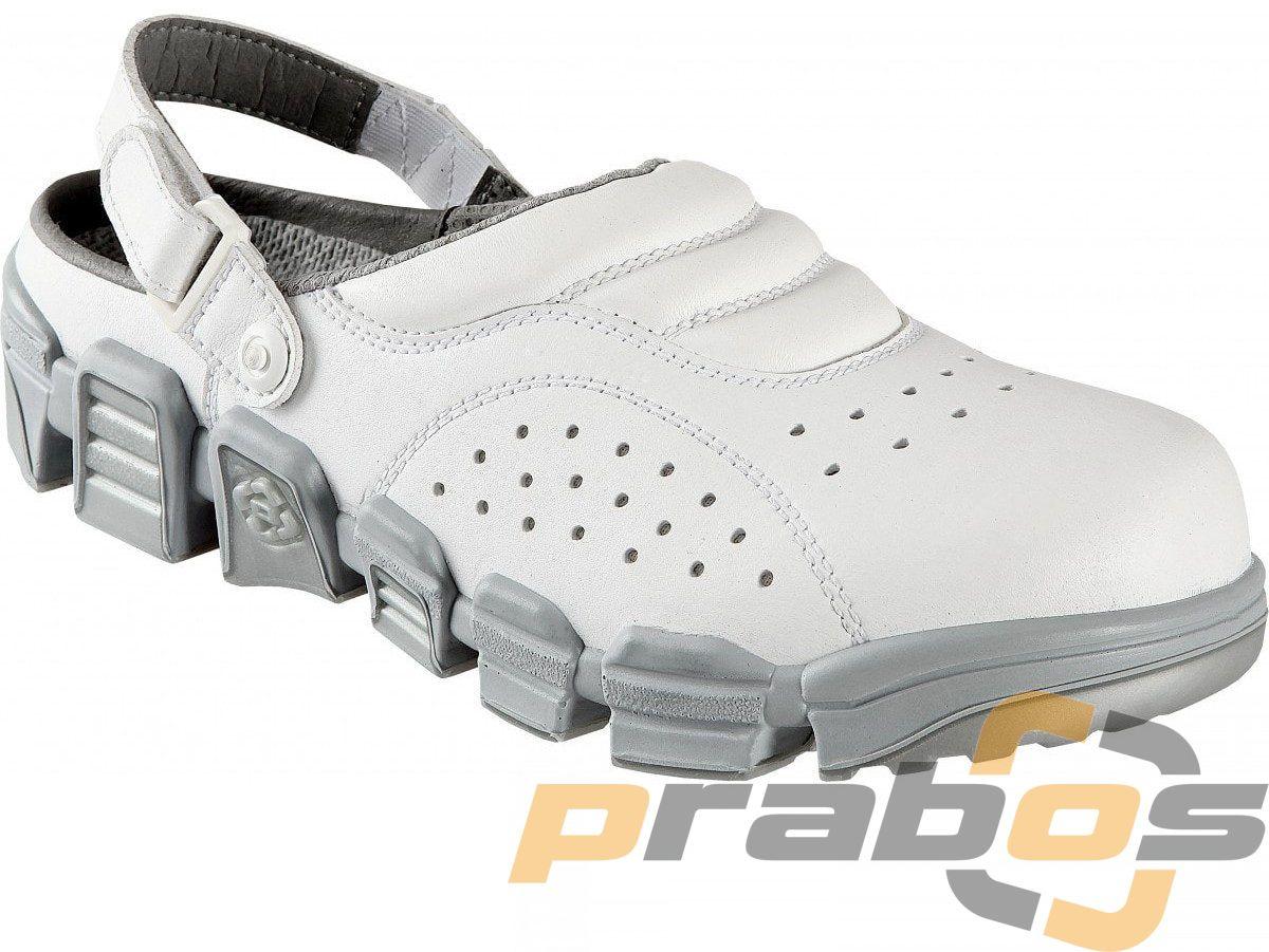 białe sandały robocze dla szpitali z lekką i elastyczną podeszwą Snake