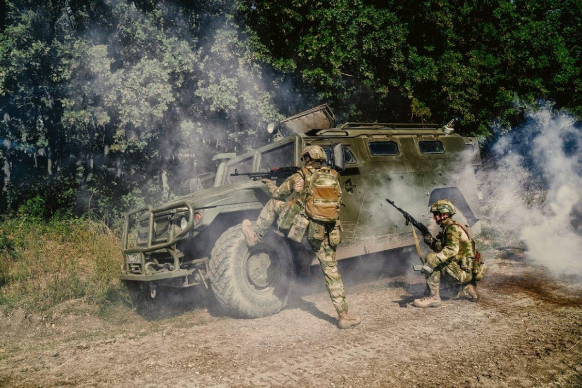 Wysokie buty wojskowe BEAST HIGH camouflage