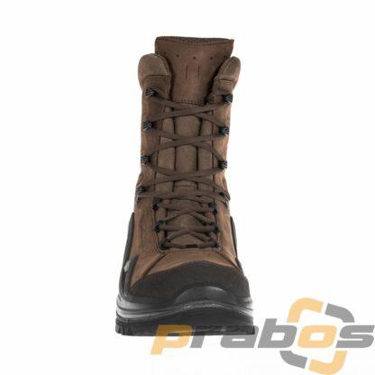 Brązowe wysokie buty taktyczne z podeszwą Vibram bez membrany Gore-Tex