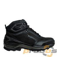 Buty taktyczne miejskie za kostkę ze skóry w kolorze czarnym