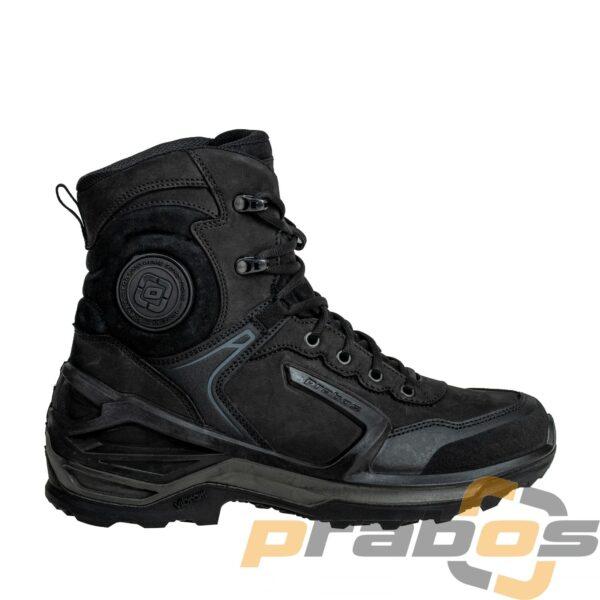 buty taktyczne Prabos czarne do policji widok z boku