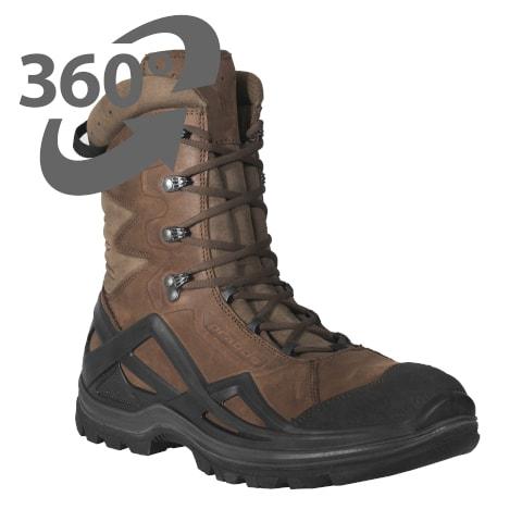 Zdjęcie 3D buty taktyczne wysokie brązowe